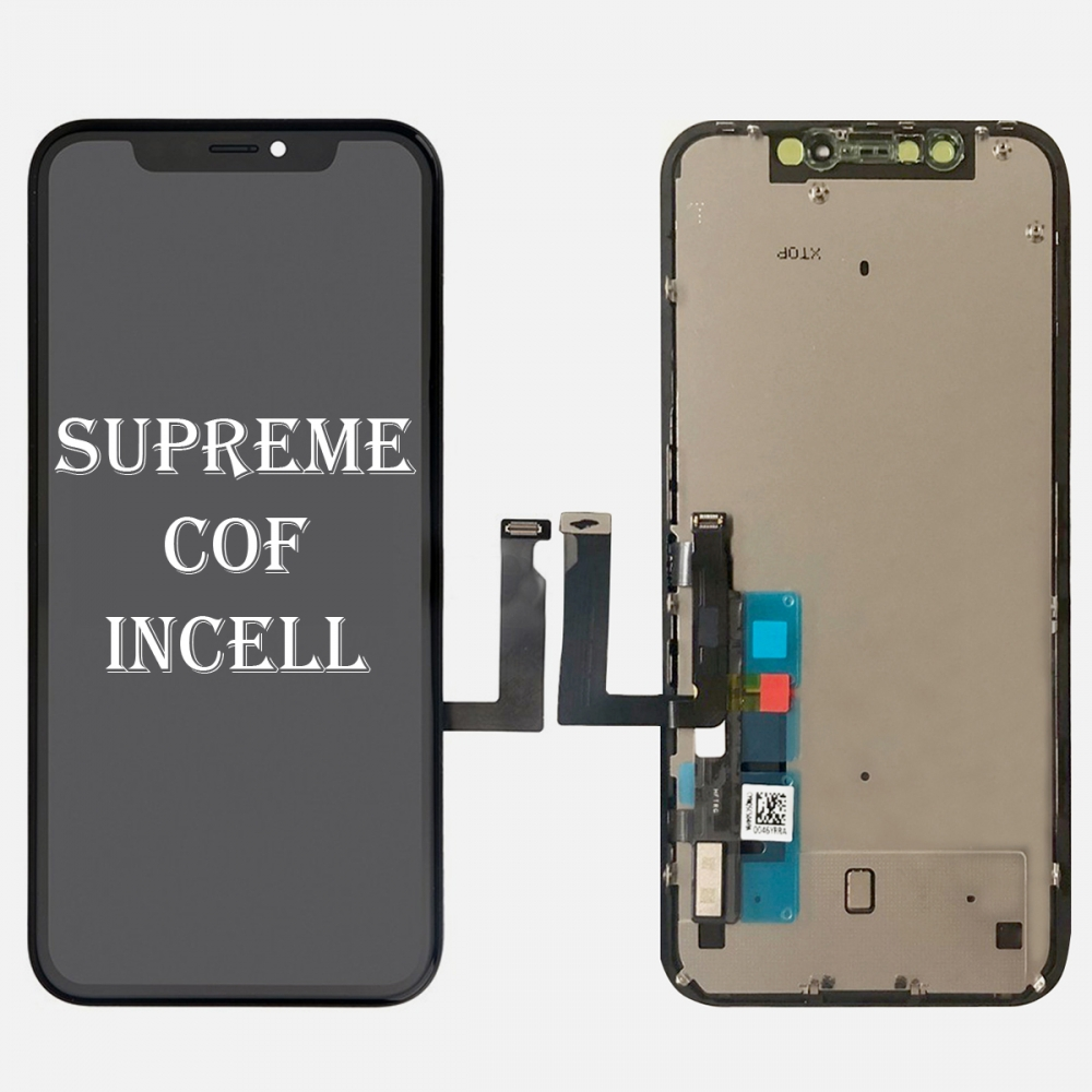 Supreme Incell Display LCD Touch Digitizer Screen Frame + Back Plate for Iphone XR (JDF)