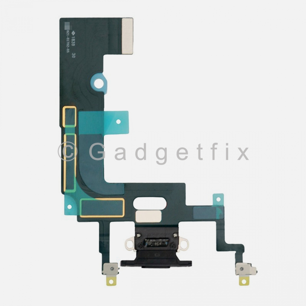Black Lightning Charger Charging Port Dock Connector Flex Cable For Iphone XR