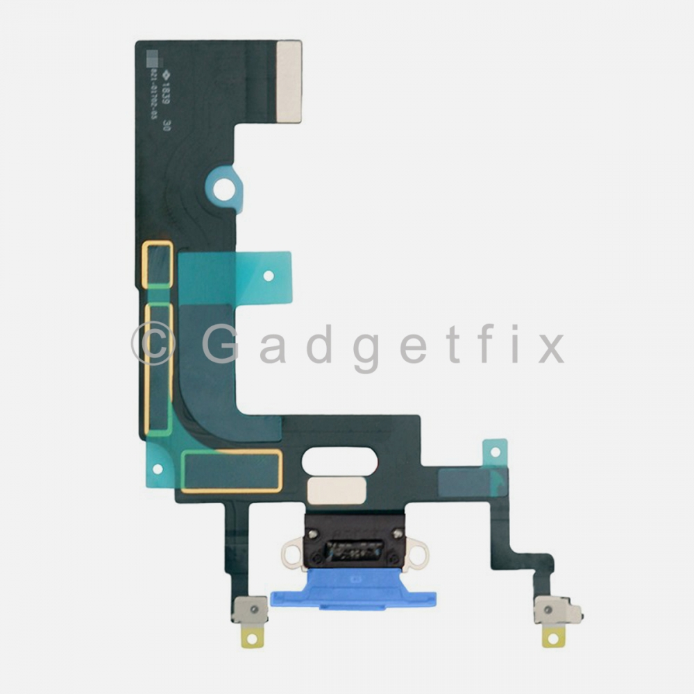 Blue Lightning Charger Charging Port Dock Connector Flex Cable For Iphone XR