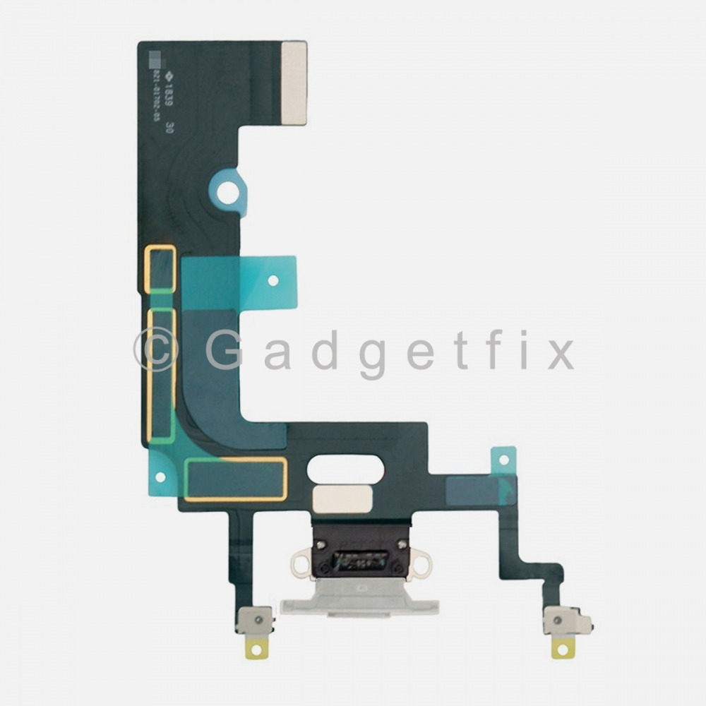 White Lightning Charger Charging Port Dock Connector Flex Cable For Iphone XR