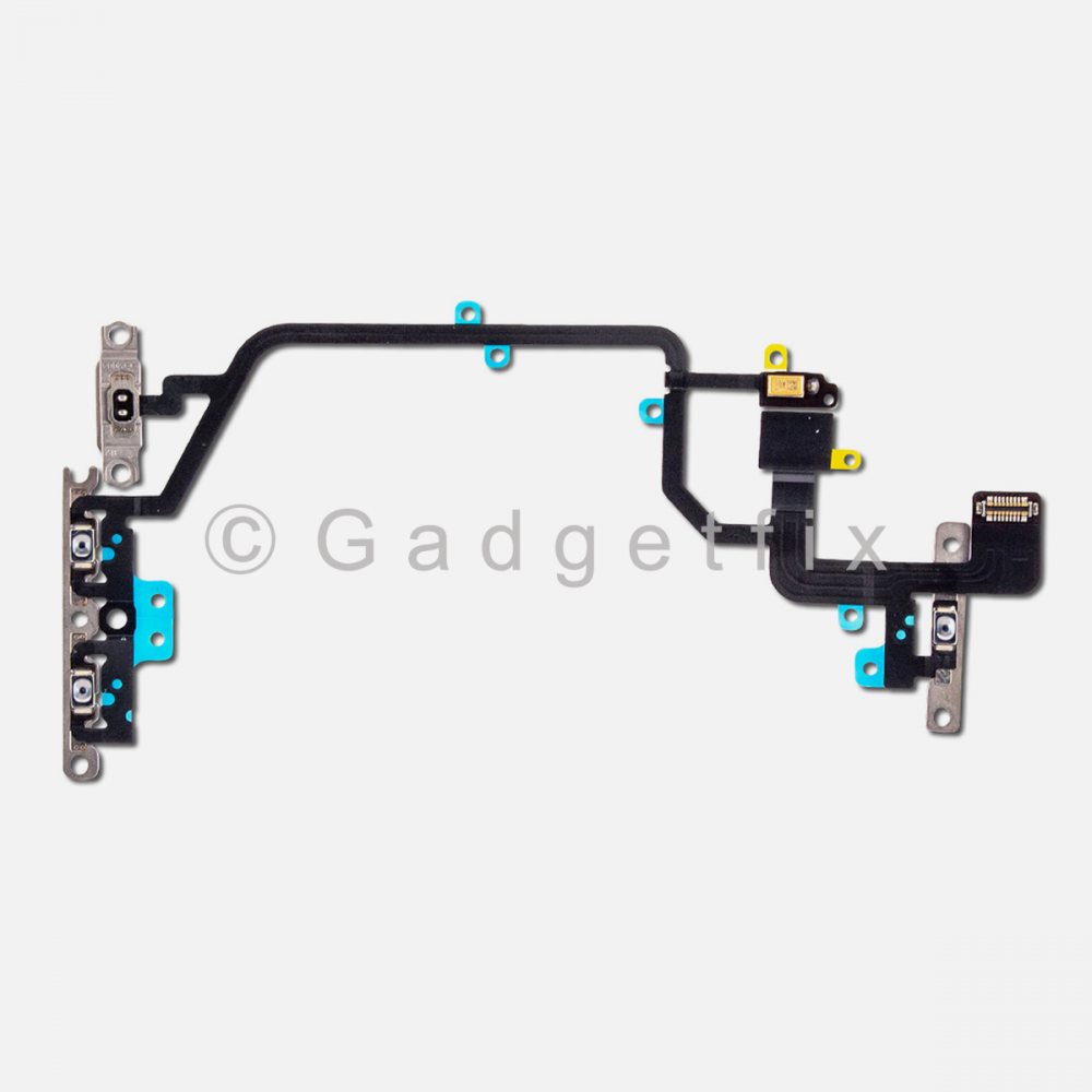 Power Volume Connector + Mic Flex Cable with Bracket For Iphone XR