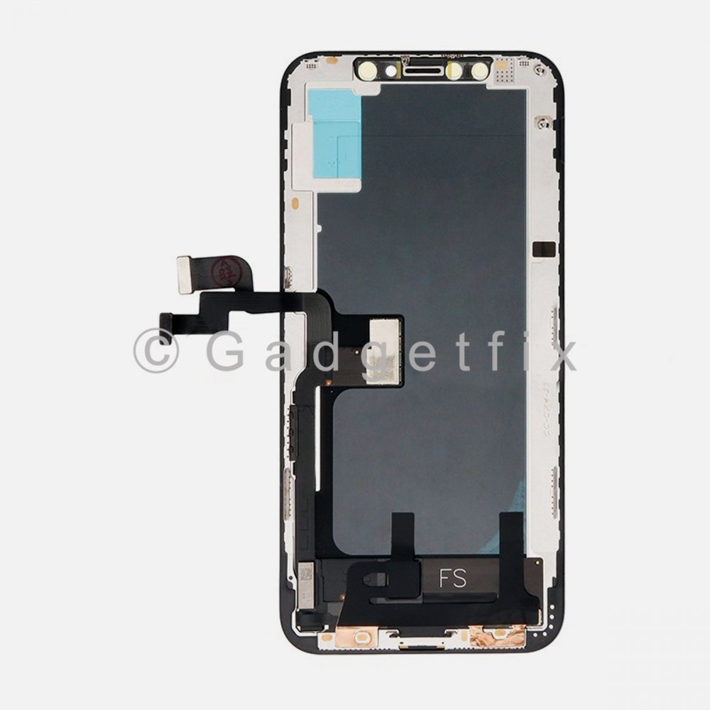 Hard OLED Display LCD Touch Digitizer Screen + Frame for Iphone XS (HEX Factory)