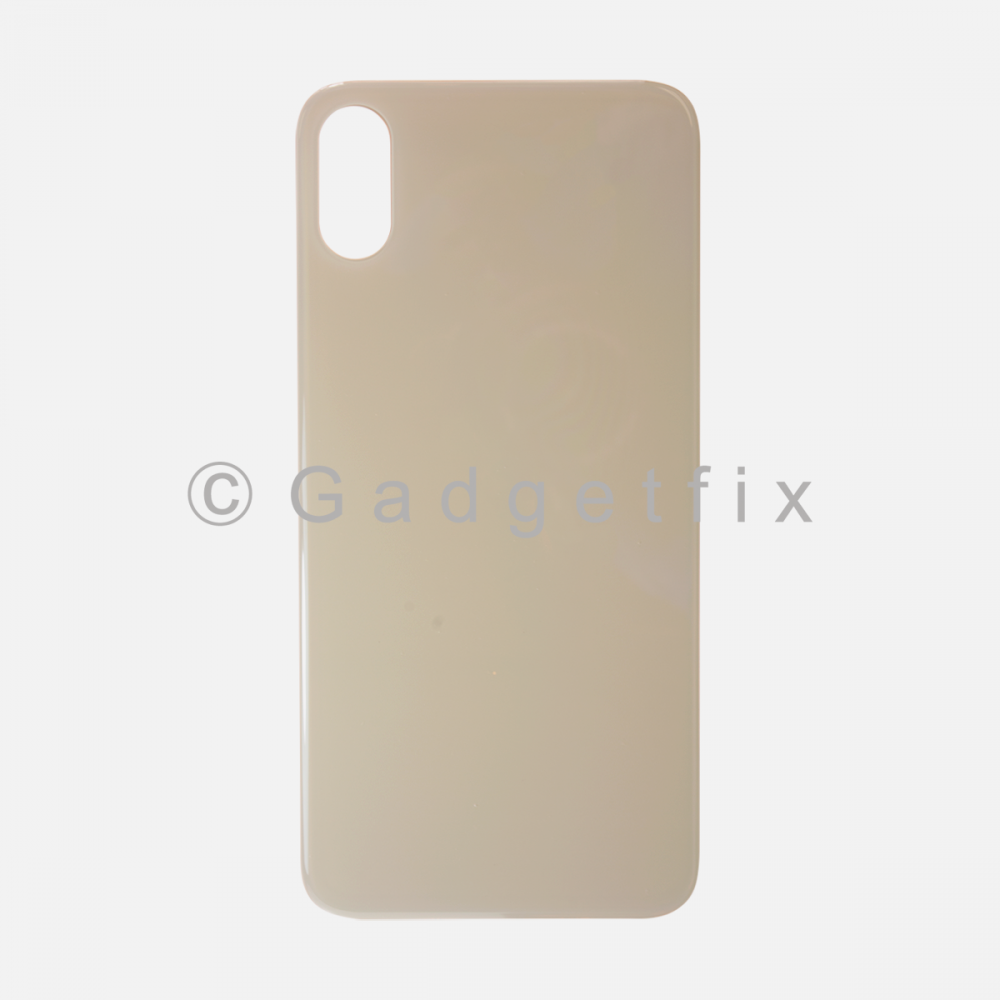 Gold Rear Back Cover Battery Door Glass For Iphone XS Max (Large Camera Hole)