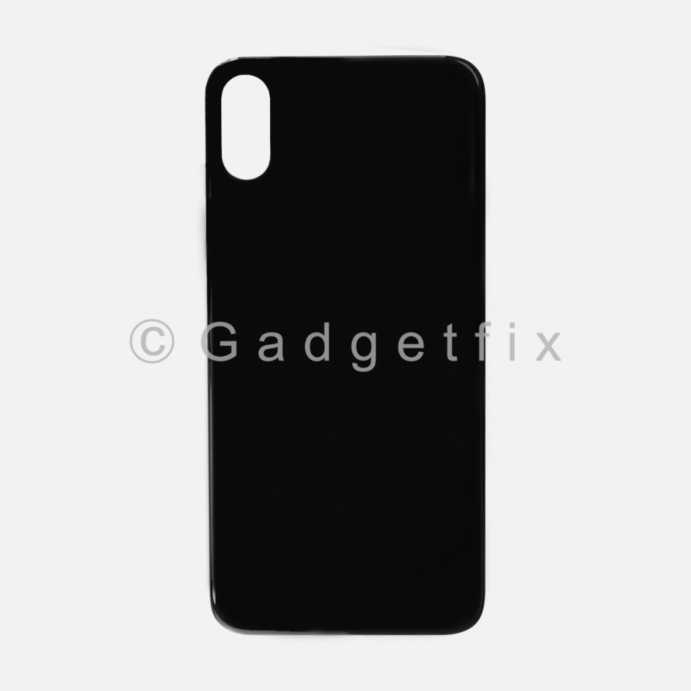 Gray Rear Back Cover Battery Door Glass For Iphone XS (Large Camera Hole)
