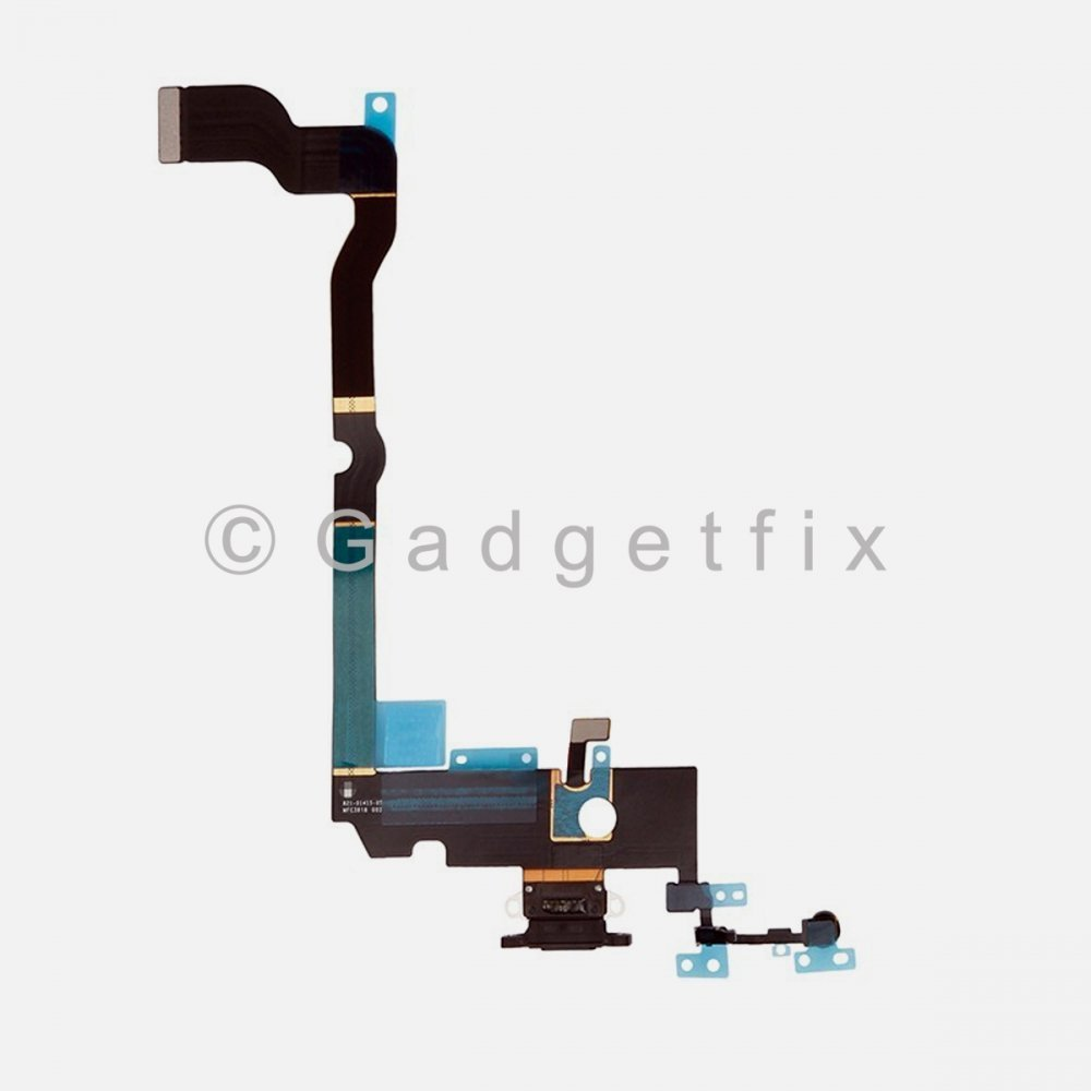 Gray Lighting Charger Charging Port Dock Connector Flex Cable + Mic For Iphone Xs Max