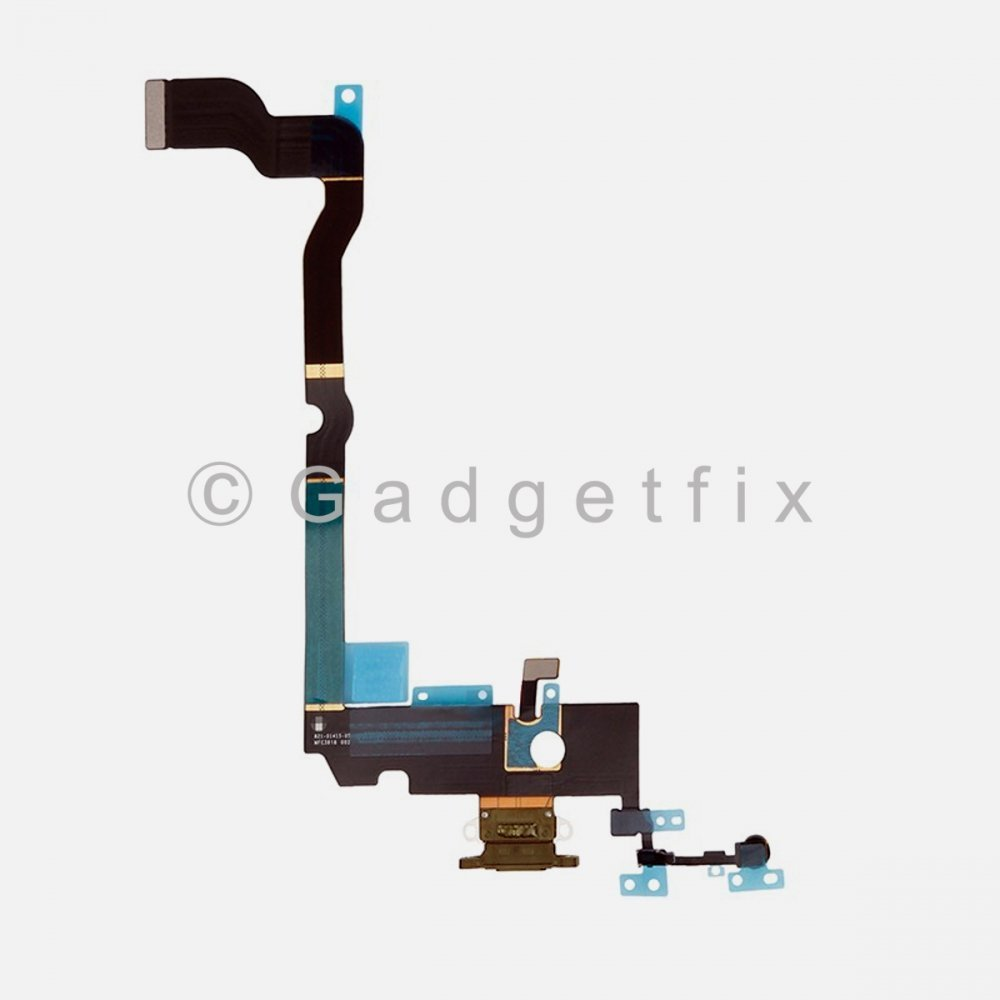 Gold Lighting Charger Charging Port Dock Connector Flex Cable + Mic For Iphone Xs Max