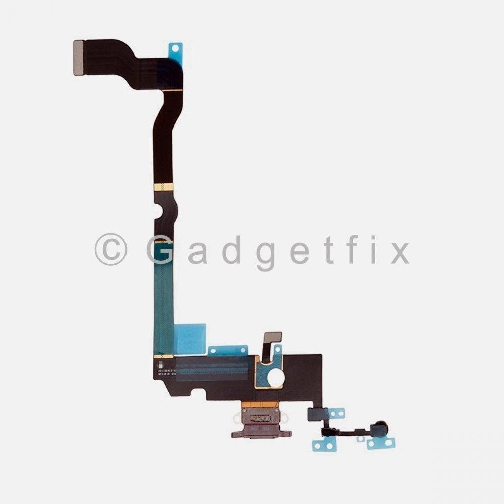 Silver Lighting Charger Charging Port Dock Connector Flex Cable + Mic For Iphone Xs Max