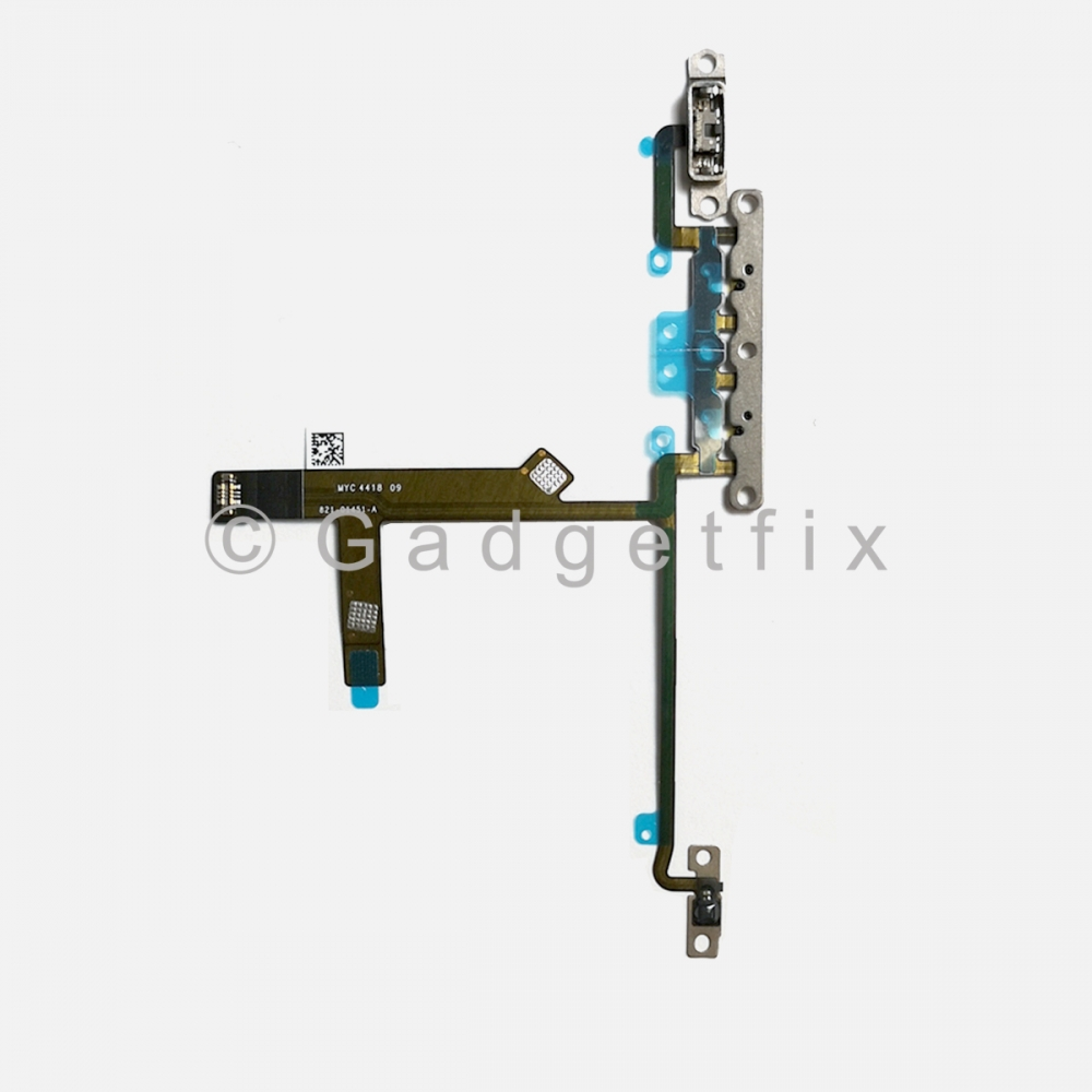 Volume Button Connector Flex Ribbon Cable w/ All Brackets For Iphone Xs