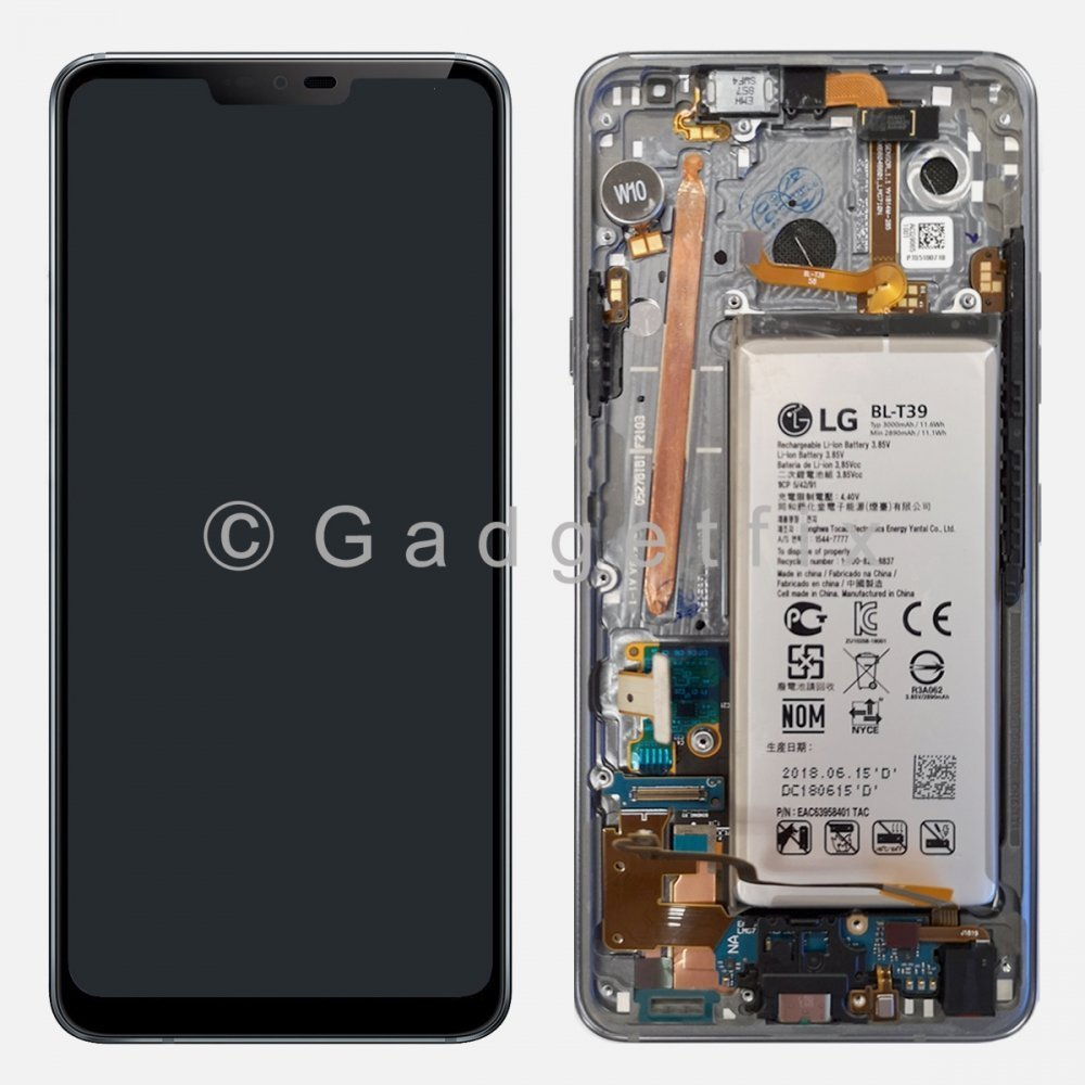 Gray LG G7 ThinQ G710 LMG710TM LCD Display Touch Screen Digitizer + Battery
