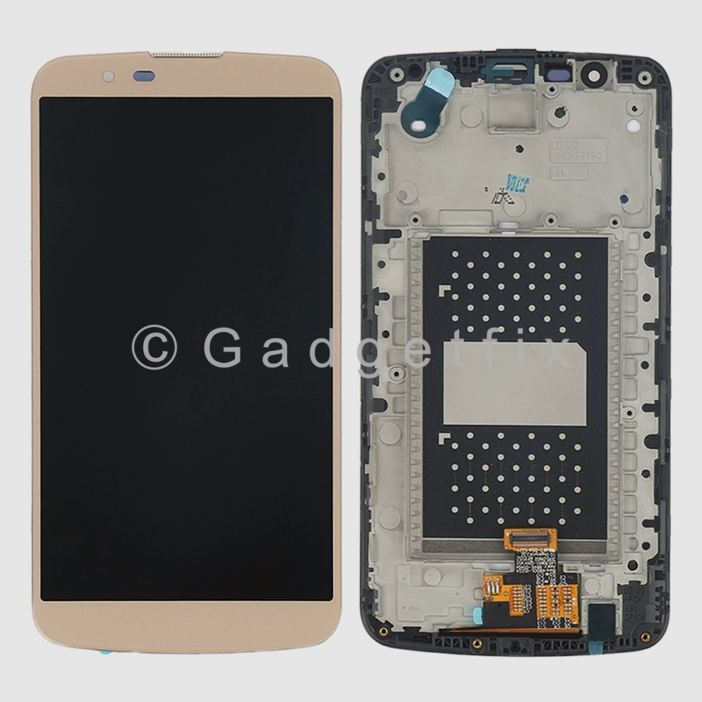 Gold LG K10 K410 K420N K430 K430DS MS428 LCD Touch Screen Digitizer + Frame