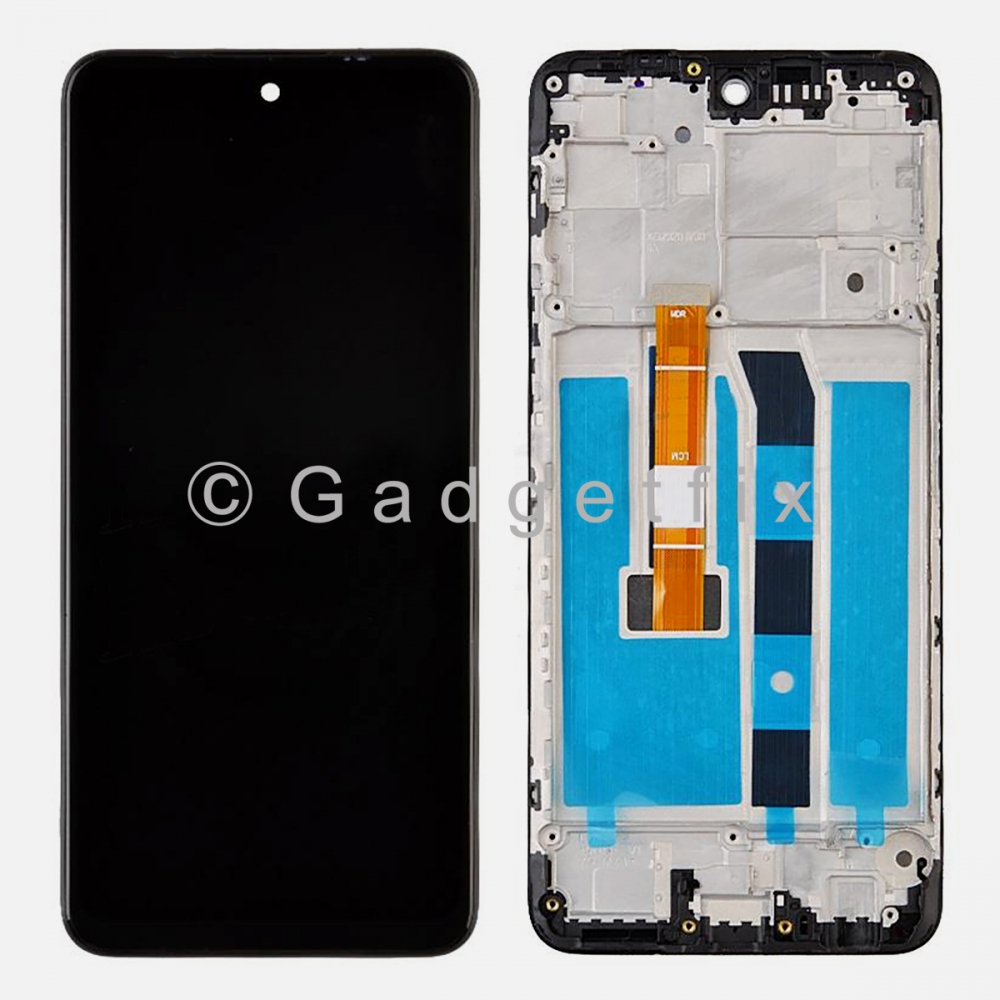 Display LCD Touch Digitizer Screen + Frame For LG K52 2020 K520