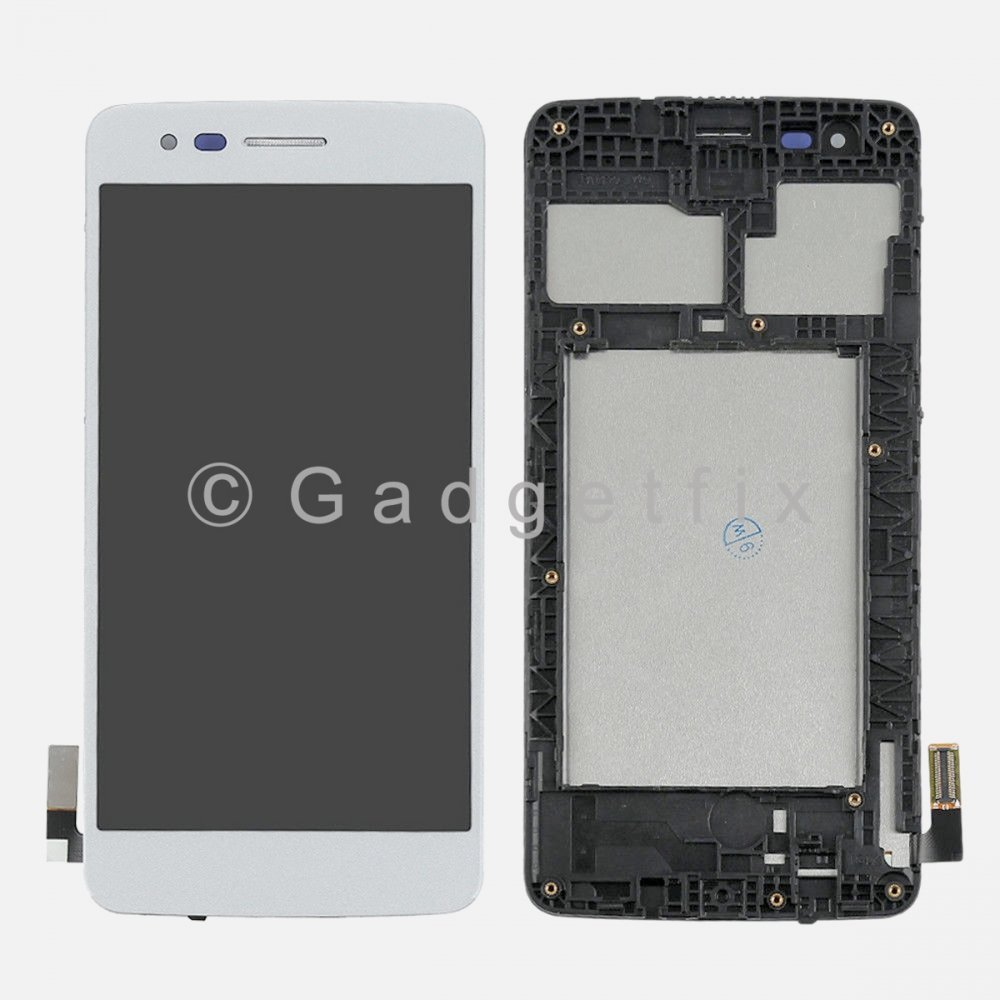 Silver LCD Display Touch Screen Digitizer + Frame For LG Aristo M210 | MS210 | LV3 | K8 2017
