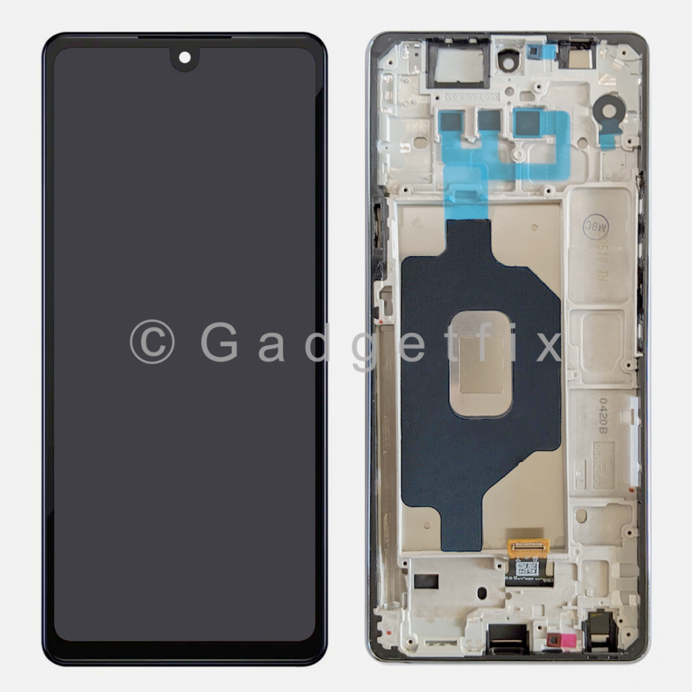 Silver LG Stylo 6 | K71 Display LCD Touch Screen Digitizer + Frame