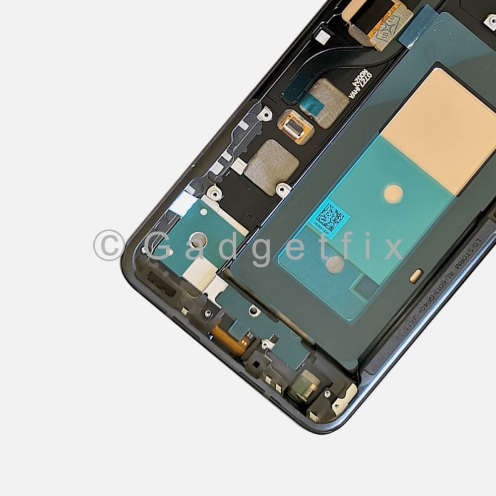 OLED LCD Display Touch Screen Digitizer Assembly w/ Frame For LG V40 ThinQ