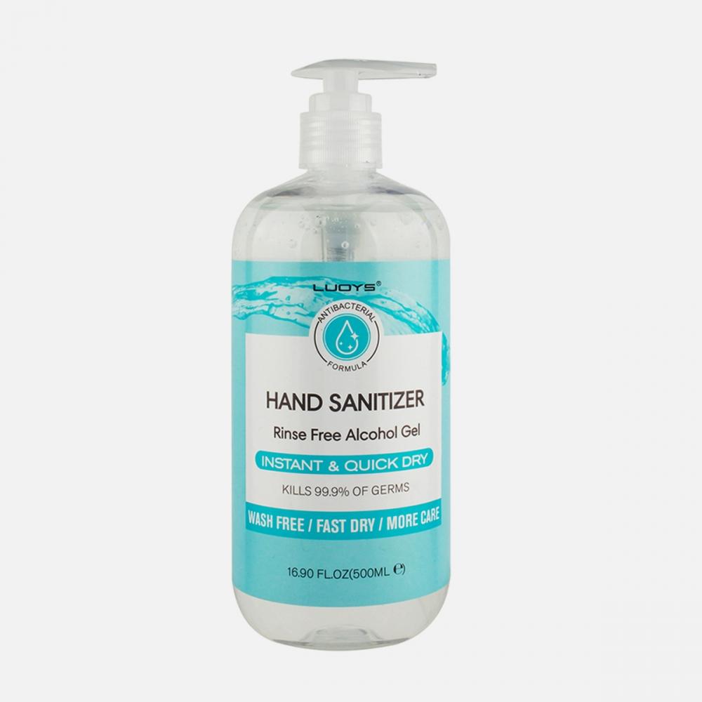 70% Alcohol Rinse-Free Antibacterial Hand Sanitizer Gel 500ml (16.9 oz)| Kills 99.9% Bacteria