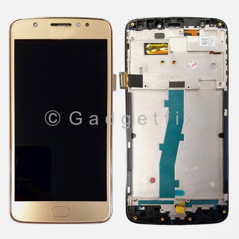 Gold LCD Display Touch Screen Digitizer + Frame For Motorola Moto E4 XT1767 XT1767PP
