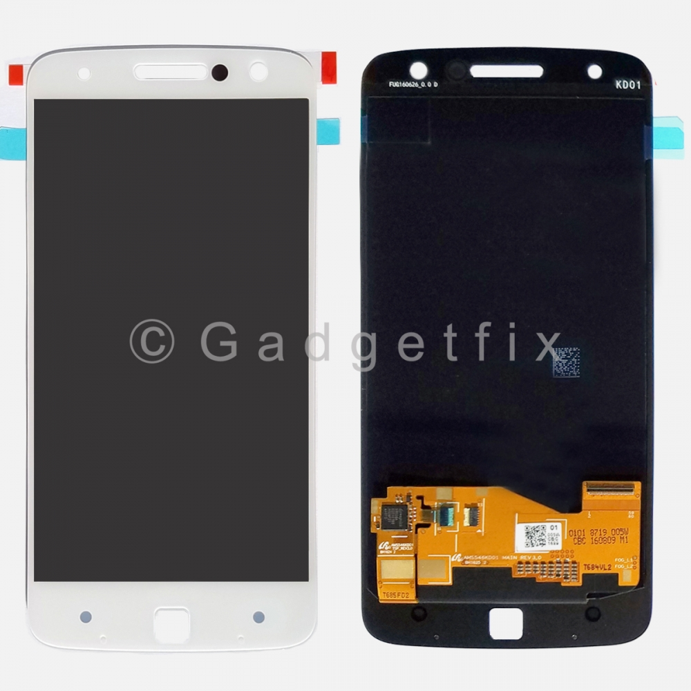 White LCD Touch Screen Digitizer For Motorola Moto Z Droid Edition XLTE XT1650-01 XT1650-03