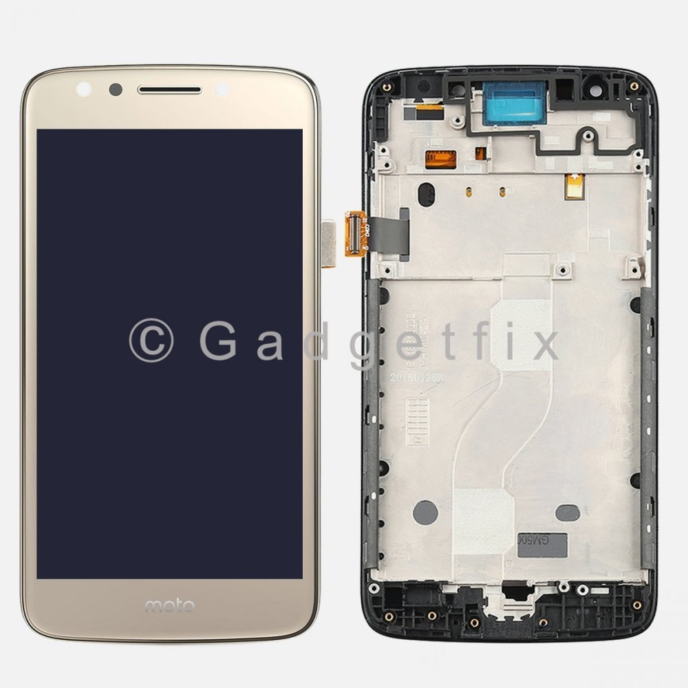 Gold LCD Display Touch Screen Digitizer + Frame For Motorola Moto E4 XT1765 XT1766