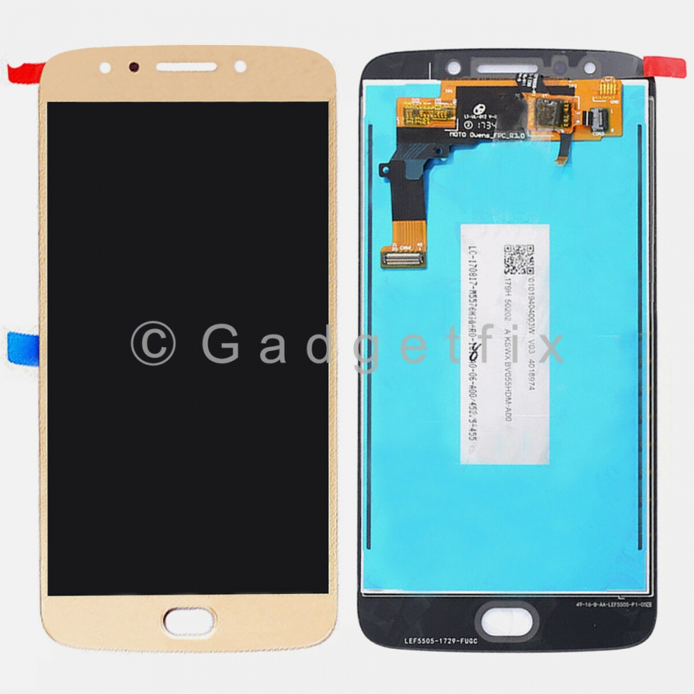 Gold Display LCD Touch Screen Digitizer For Motorola Moto E4 Plus XT1775