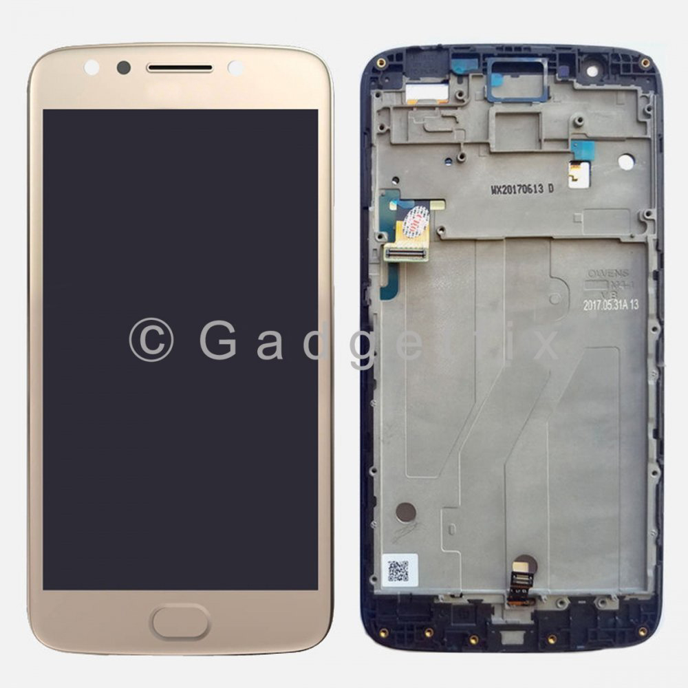 Gold Display LCD Touch Screen Digitizer + Frame For Motorola Moto E4 Plus XT1775