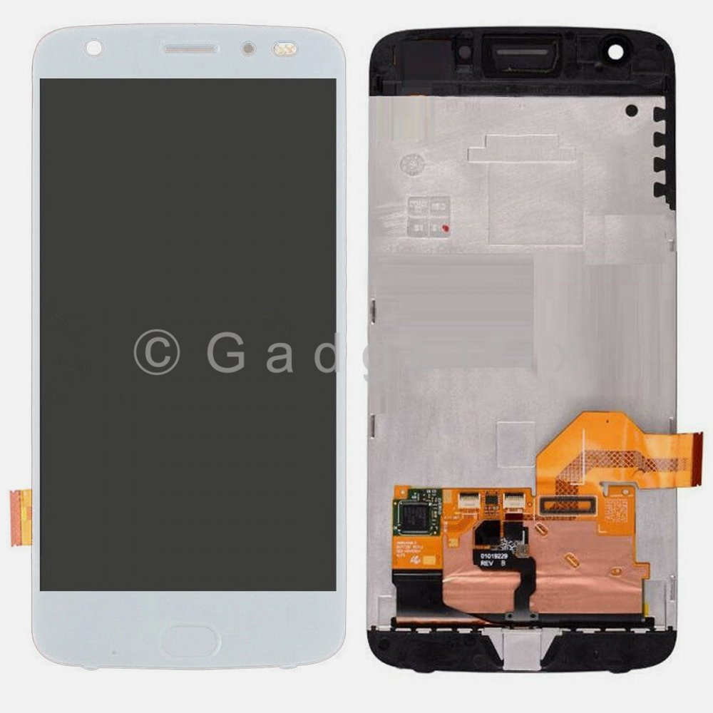 White Motorola Z2 Force XT1789 LCD Screen Display Digitizer Touch Assembly w/ Frame