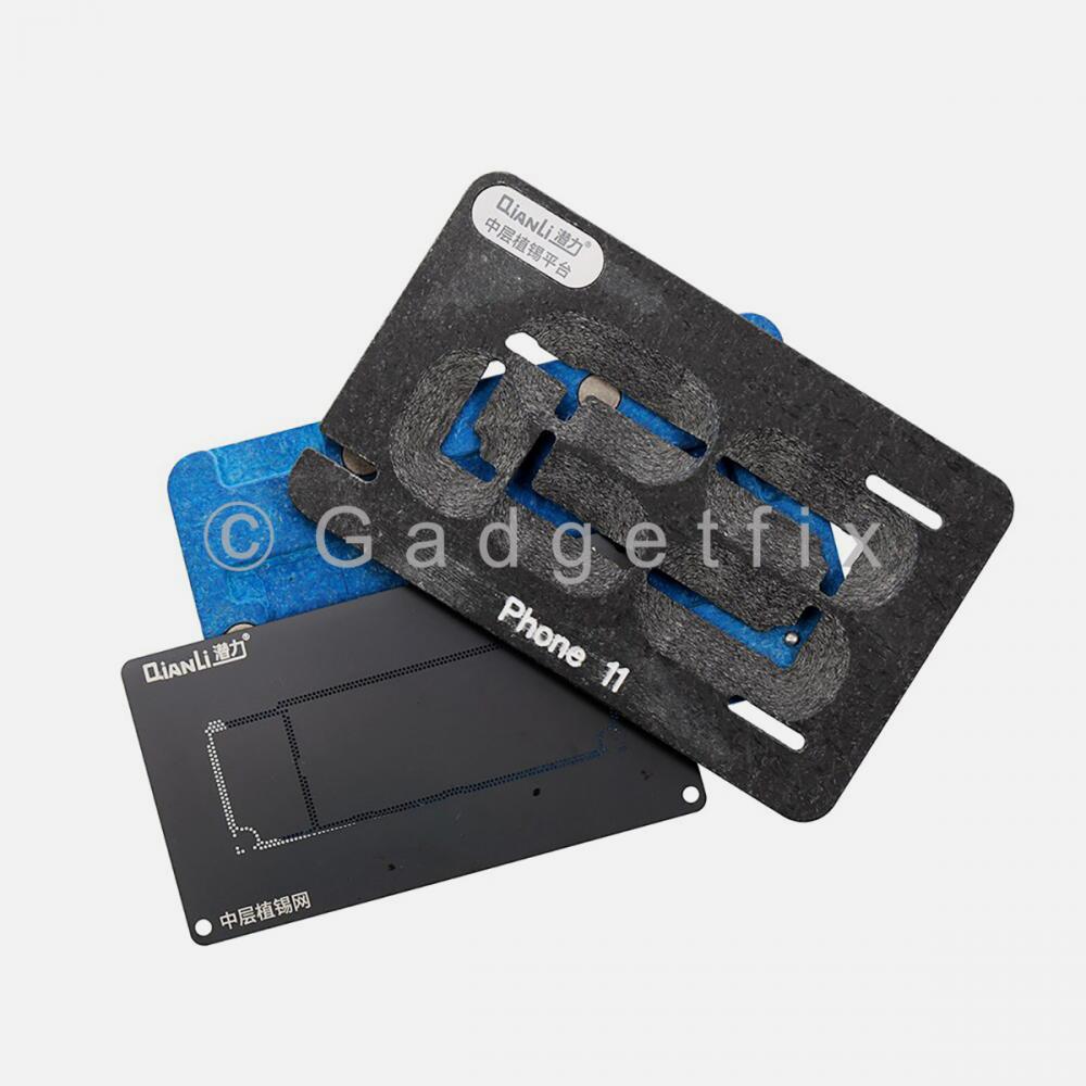 QianLi Middle Frame Reballing Platform Motherboard Soldering for iphone 11