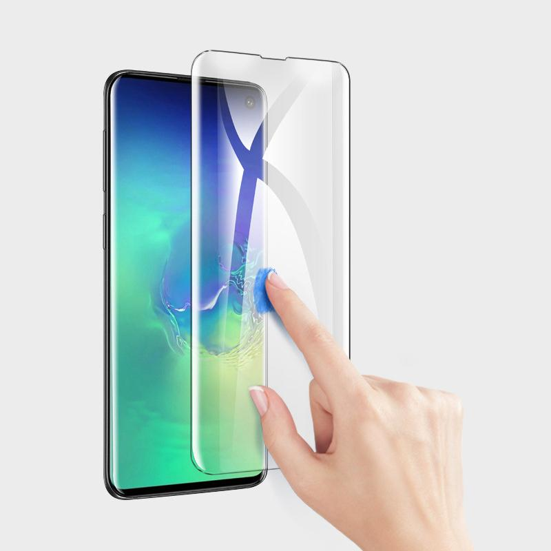 Tempered Glass Screen Protector For Samsung Galaxy S10 (Compatible w/ Fingerprint)