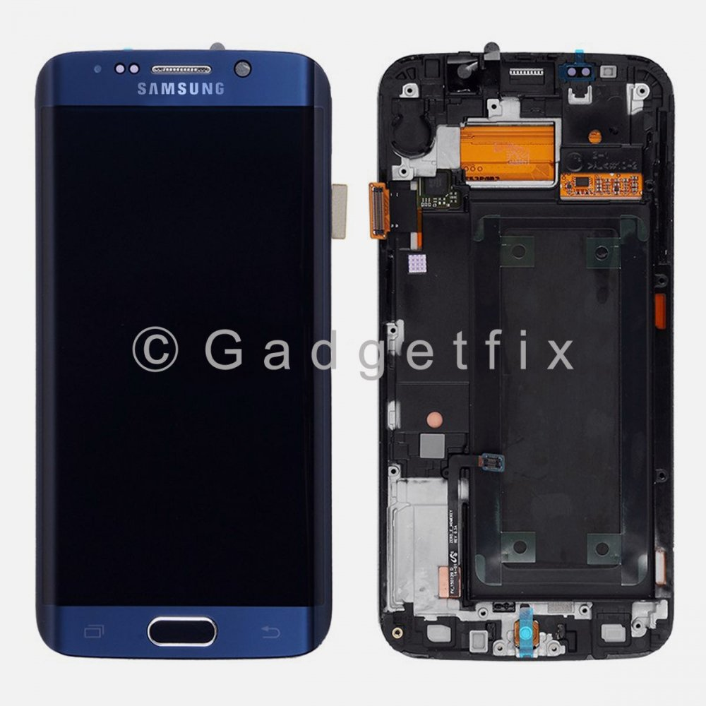 Samsung Galaxy S6 Edge G925A G925T LCD Screen Touch Screen Digitizer + Frame A