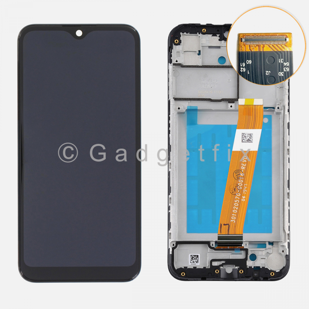 Samsung Galaxy A01 A015 Display LCD Touch Screen Digitizer + Frame (Small Connector)