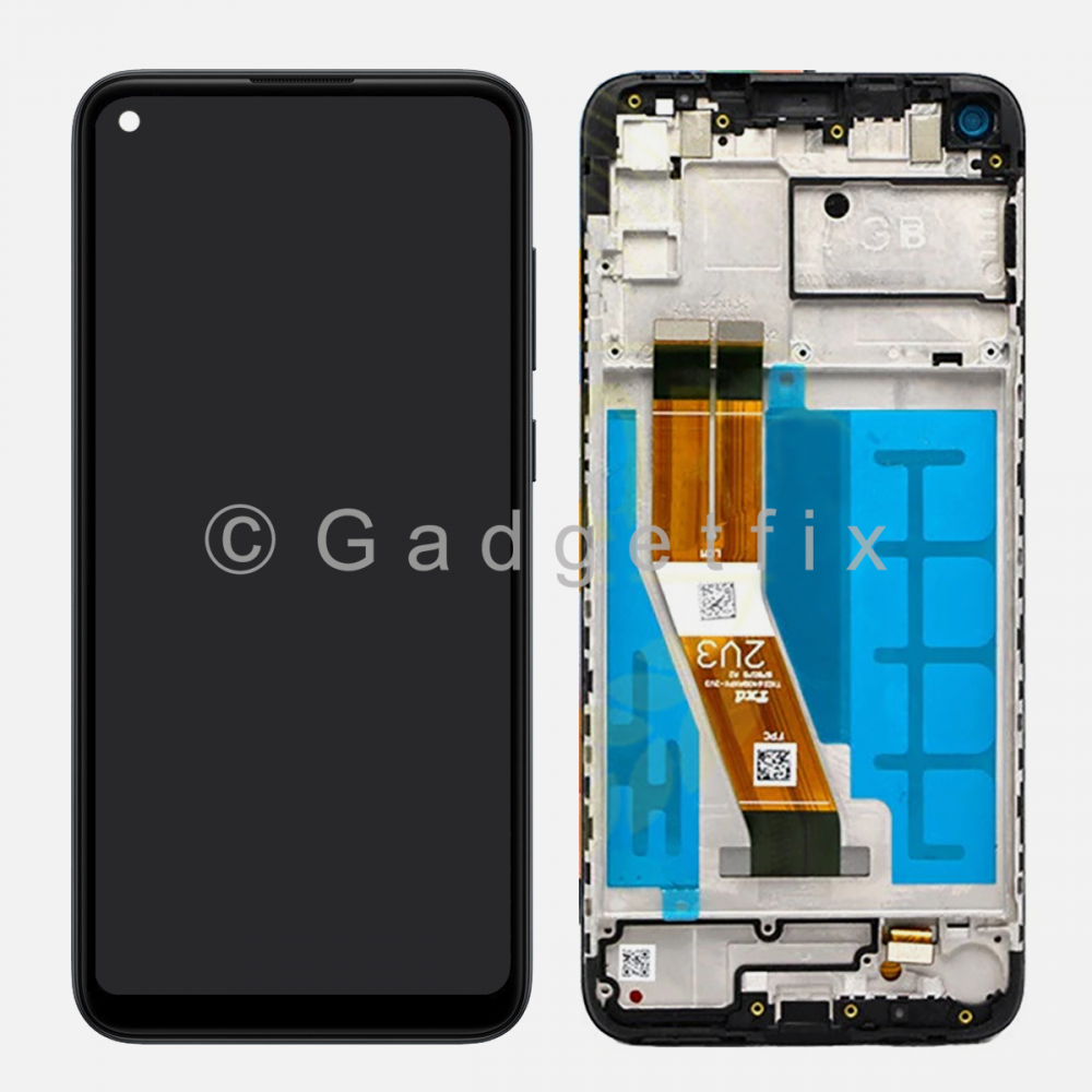 Black Samsung Galaxy A11 SM-A115F/DS Display LCD Touch Screen Digitizer + Frame