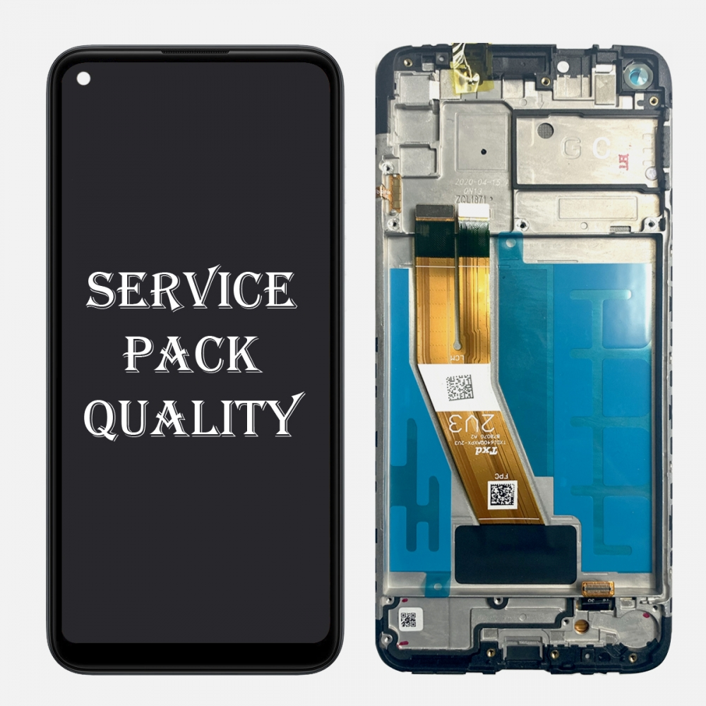 Black Samsung Galaxy A11 SM-A115F/DS Display LCD Touch Screen Digitizer + Frame Service Pack