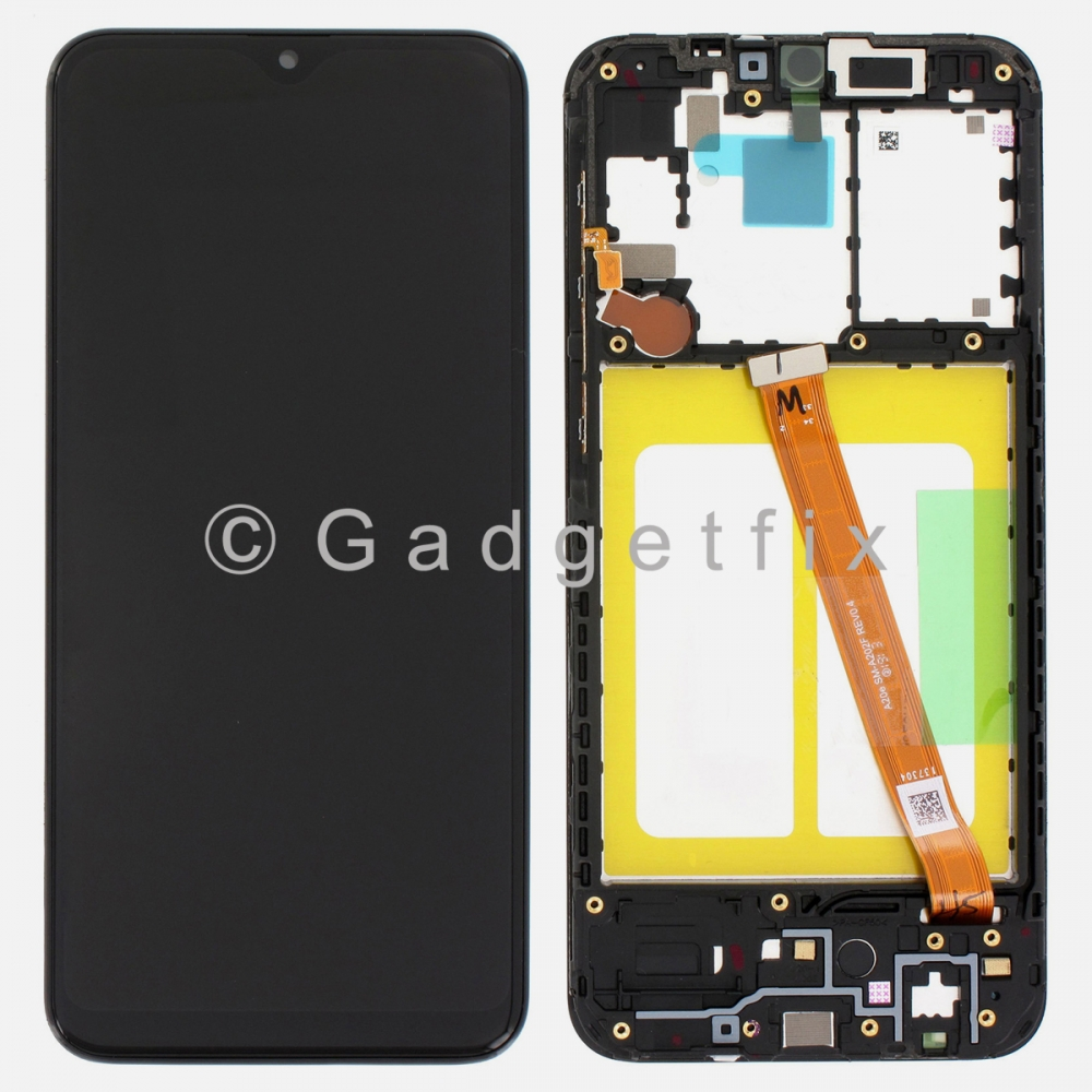 Display LCD Touch Screen Digitizer + Frame For Samsung Galaxy A20E A202F