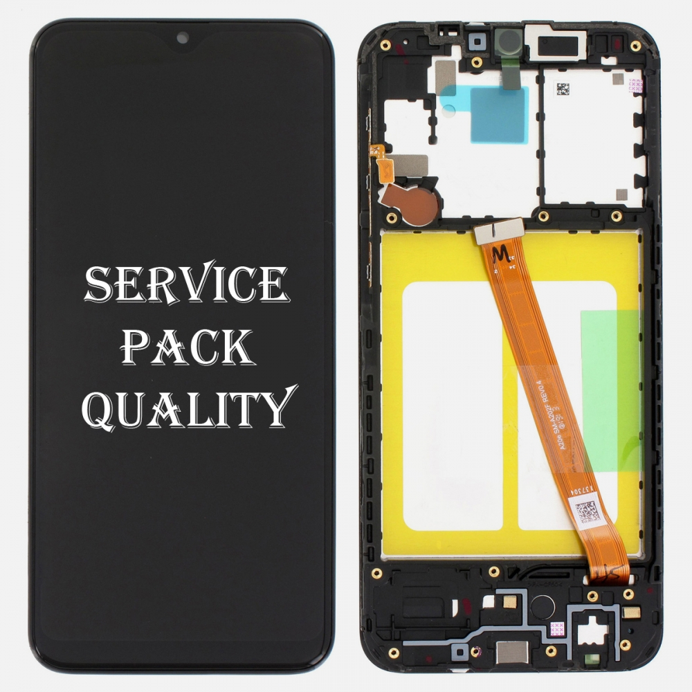 Display LCD Touch Screen Digitizer + Frame For Samsung Galaxy A20E A202F (Service Pack)