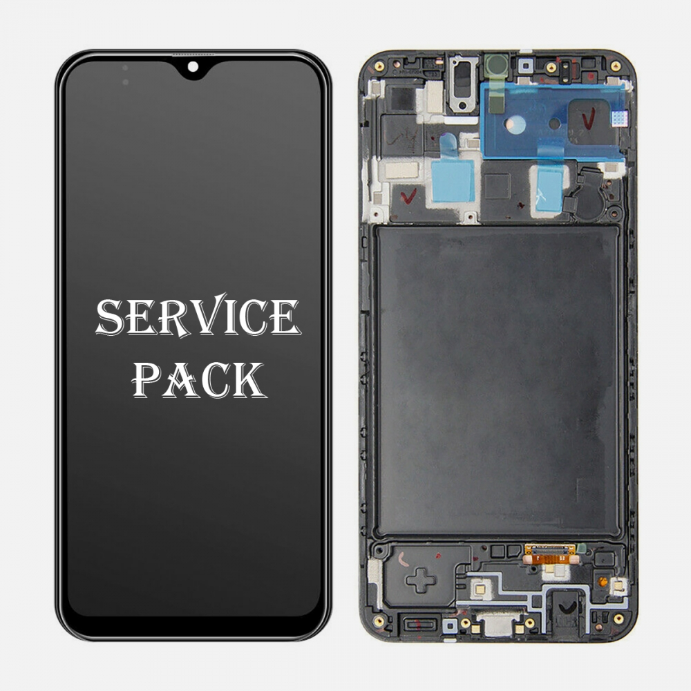 OLED Display LCD Touch Screen Digitizer + Frame For Samsung Galaxy A20 A205 A205U (Service Pack)