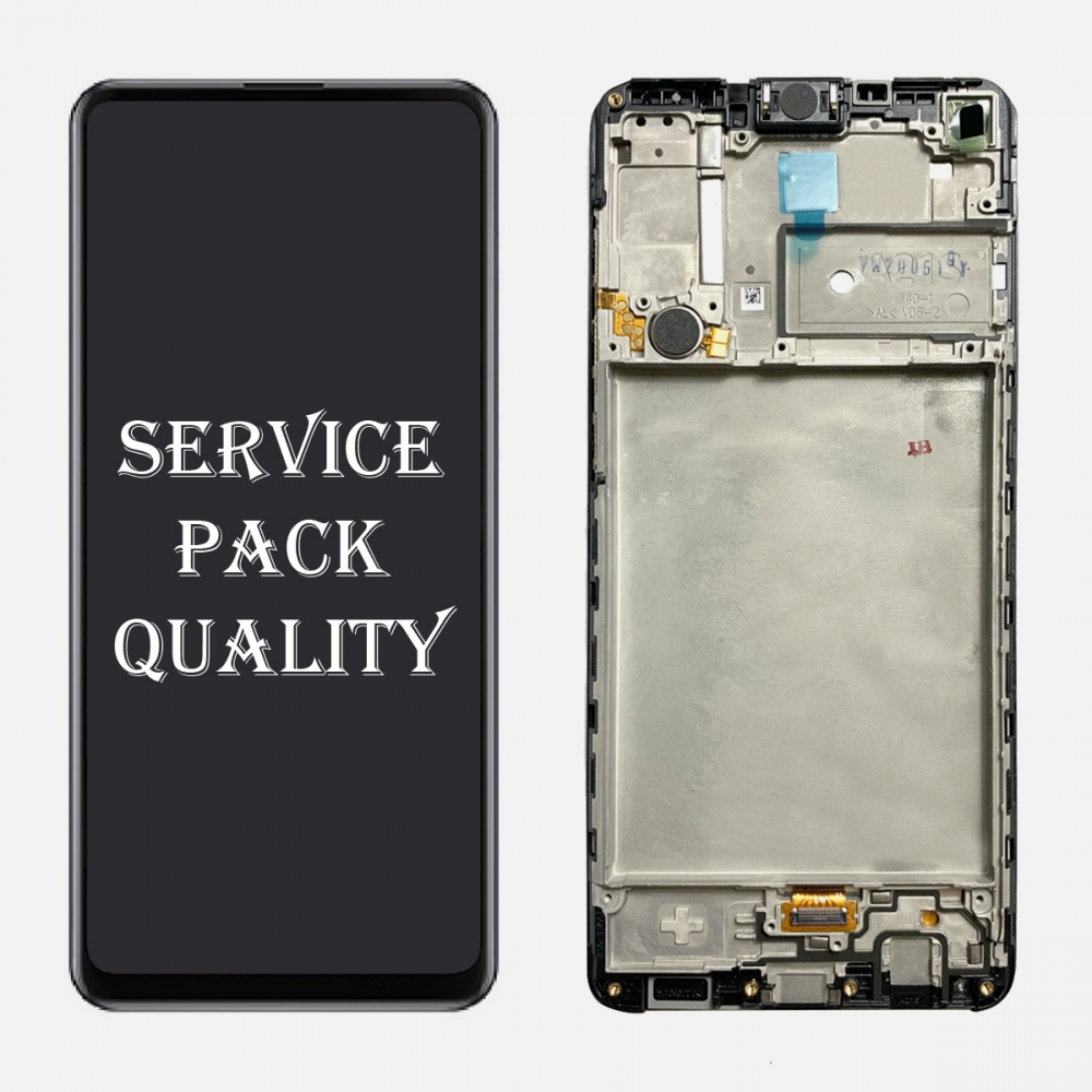 Display LCD Touch Screen Digitizer + Frame For Samsung Galaxy A21S A217F (Service Pack)