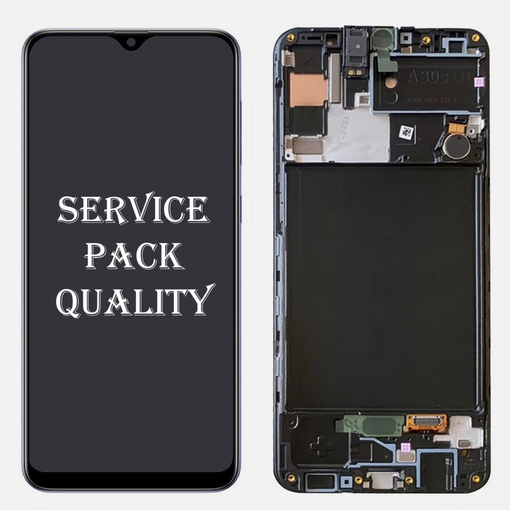 Amoled Display LCD Touch Screen Digitizer + Frame For Samsung Galaxy A30S A307 (Service Pack)
