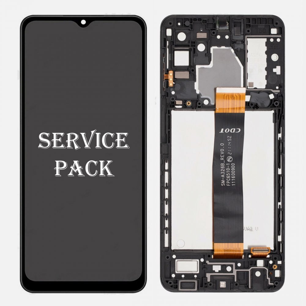 Samsung Galaxy A32 5G 2021 SM-A326B/DS Display LCD Touch Screen Digitizer Frame (Service Pack)