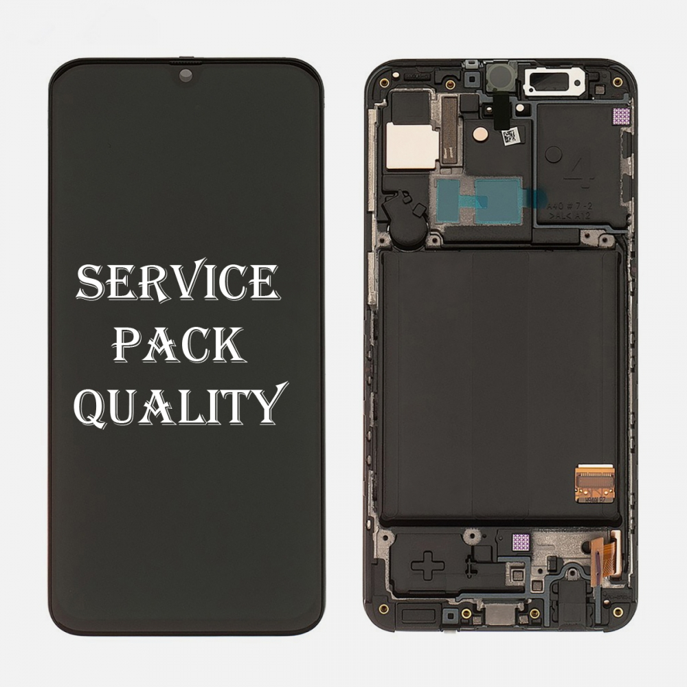 AMOLED Display LCD Touch Screen Digitizer + Frame For Samsung Galaxy A40 A405 (Service Pack)