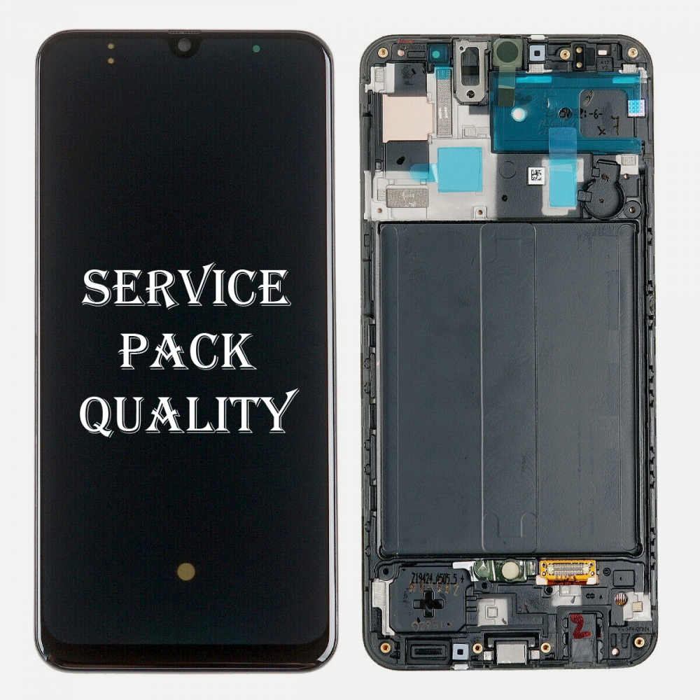 Amoled Display LCD Touch Screen Digitizer + Frame For Samsung Galaxy A50 A505 2019 (Service Pack)