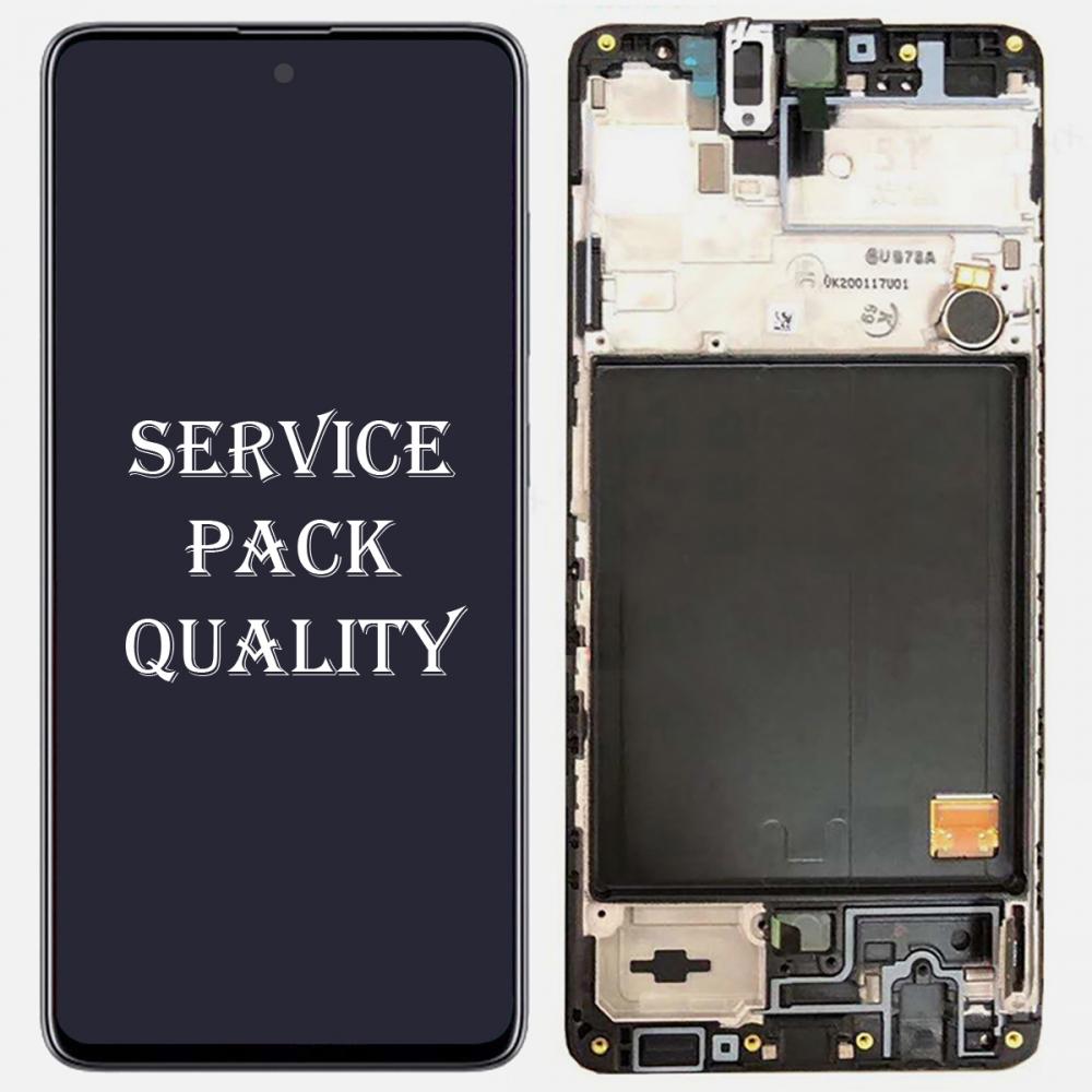 Black Samsung Galaxy A51 2019 A515 Display LCD Touch Screen Digitizer + Frame