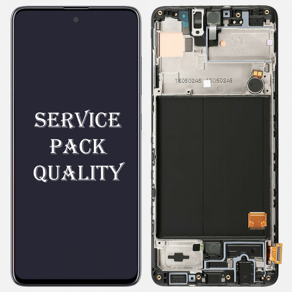 Samsung Galaxy A51 2019 A515 Display LCD Touch Screen Digitizer + Frame (Service Pack)