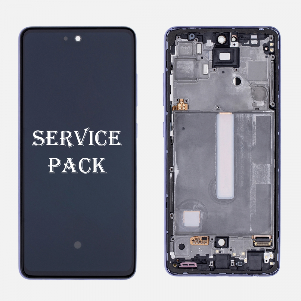 Violet OLED Display LCD Touch Screen Digitizer Frame for Samsung Galaxy A52 A525 (Service Pack)