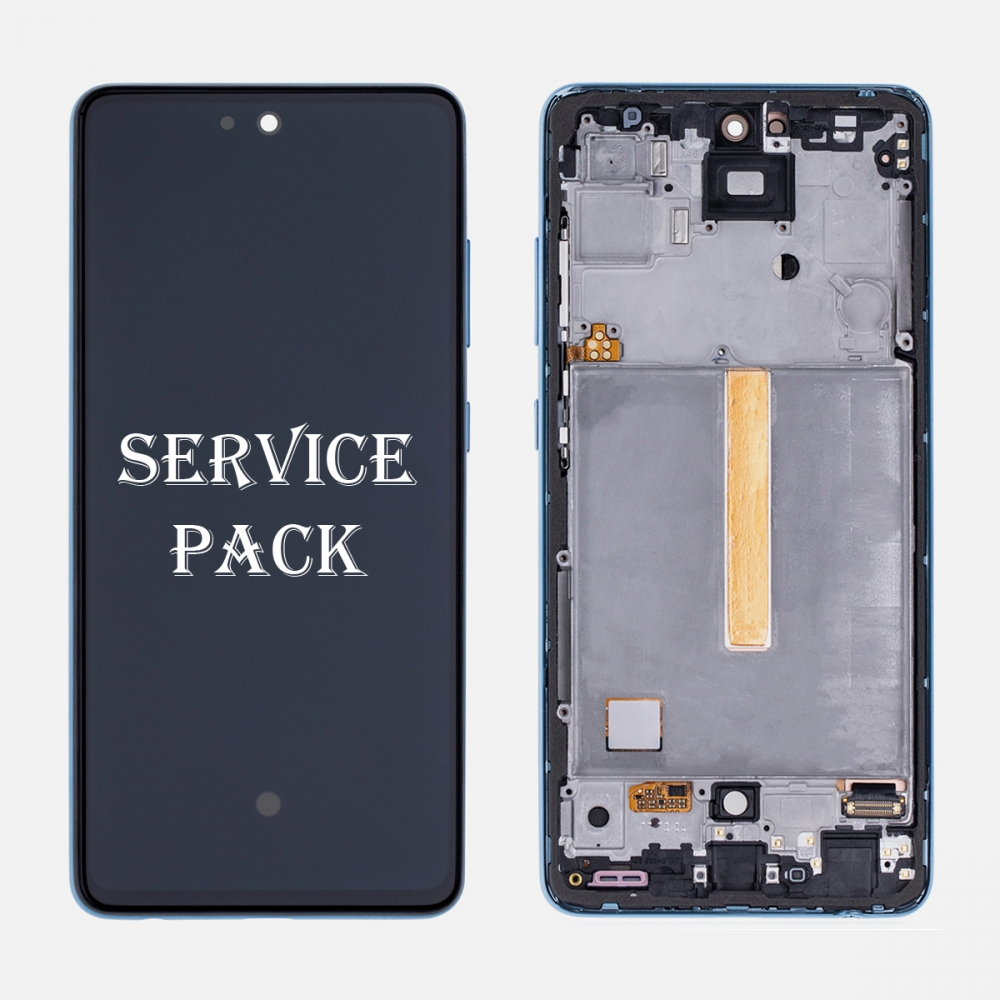 Blue OLED Display LCD Touch Screen Digitizer Frame for Samsung Galaxy A52 A525 (Service Pack)