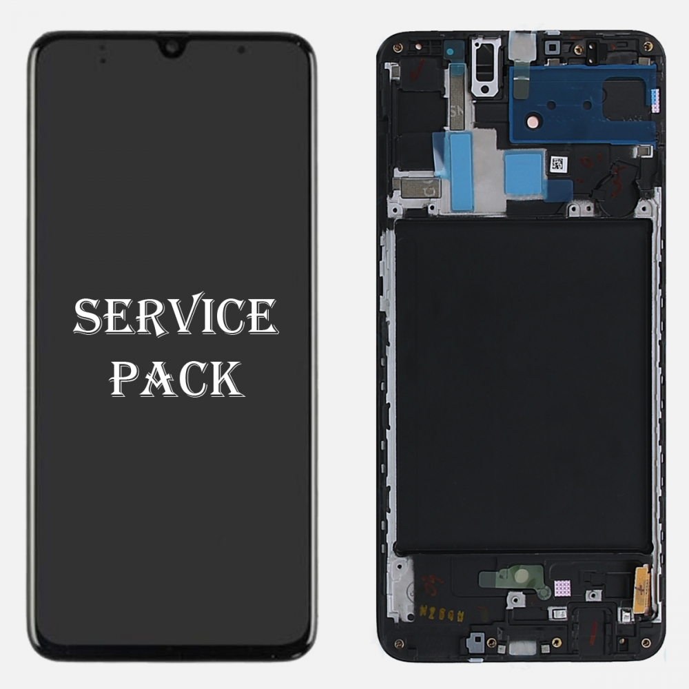 Amoled LCD Touch Screen Digitizer Frame For Samsung Galaxy A70 A705 (Service Pack)