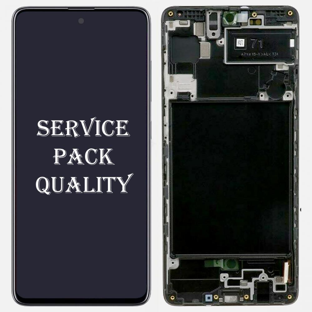 Black Samsung Galaxy A71 2019 A715 Display LCD Touch Screen Digitizer + Frame