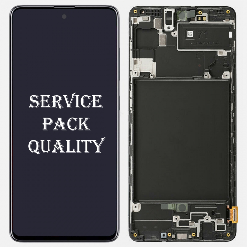 Samsung Galaxy A71 2019 A715 Display LCD Touch Screen Digitizer + Frame (Service Pack)