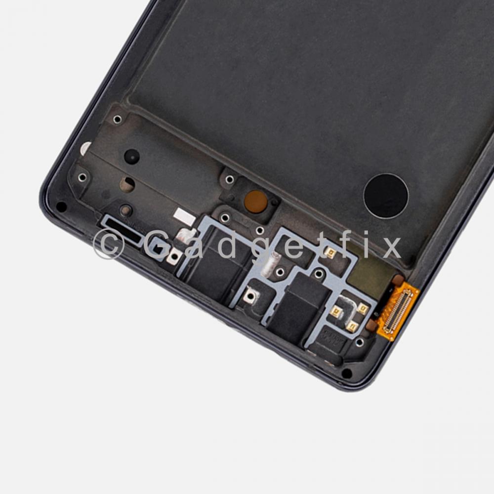 Refurbished Black Samsung Galaxy A71 5G A716 2020 OLED Display LCD Touch Screen Digitizer Frame