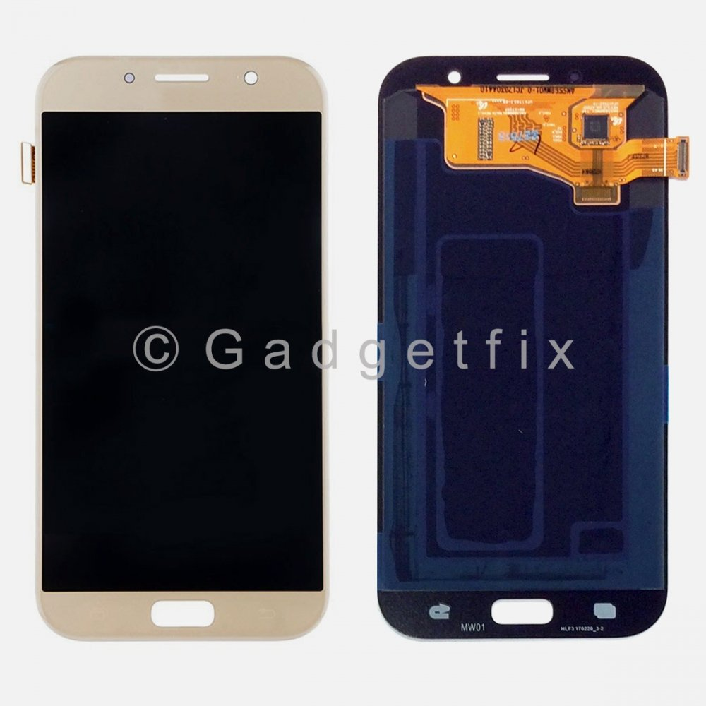 Gold Touch Screen Digitizer LCD Display For Samsung Galaxy A7 2017 A720 A720F A720F/DS
