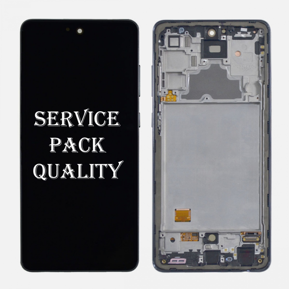 Black Samsung Galaxy A72 (A725 | 2011) OLED Display LCD Touch Screen Digitizer (Service Pack)