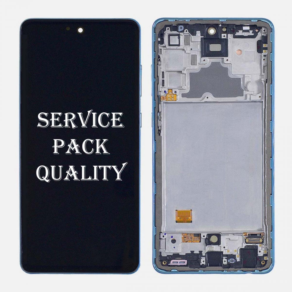 Blue Samsung Galaxy A72 (A725 | 2011) OLED Display LCD Touch Screen Digitizer (Service Pack)